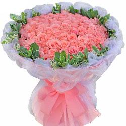 77朵戴安娜粉玫瑰,一生安好爱你