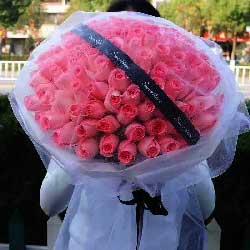 99朵戴安娜粉玫瑰,我要与你一起爱得精彩