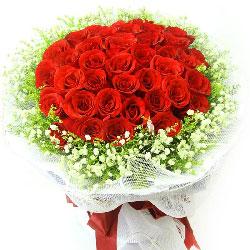 100朵红玫瑰,我愿意为你付出我的所有