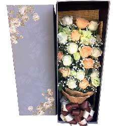 19朵玫瑰,礼盒装,一生一世在一起