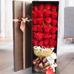 30朵红玫瑰,礼盒装,我爱你到永远