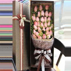 33朵戴安娜粉玫瑰,礼盒装,今生你是我的唯一