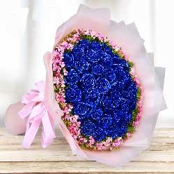 33朵蓝玫瑰,默契相爱