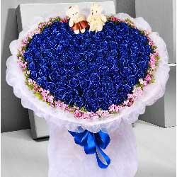 99朵蓝色玫瑰,我要说我爱你