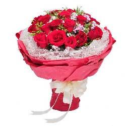 17朵红玫瑰,愿意与你永远在一起