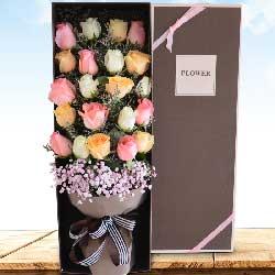 19朵玫瑰,礼盒装,守候一世的爱恋