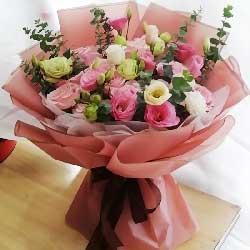 11朵戴安娜或粉雪山粉玫瑰,宝贝吾爱你