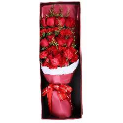 11朵红玫瑰,11朵红色康乃馨,祝女王快乐,幸福绵长