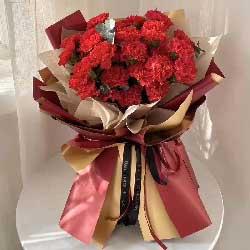 22朵红色康乃馨,健康吉祥