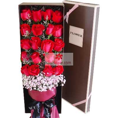33朵红玫瑰,礼盒装,思念的快乐