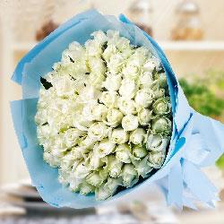 99朵白玫瑰,对你爱始终如一