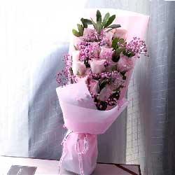 11朵戴安娜粉玫瑰,我要永远拥有你