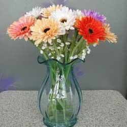11朵各色扶郎花,瓶插花,热热的祝福