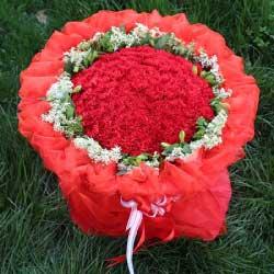 80朵红色康乃馨,生活永远美好而长久