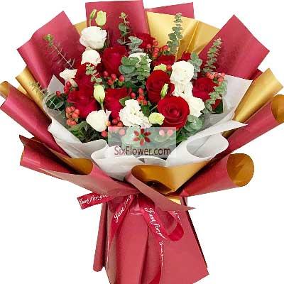 11朵红玫瑰,有你的每一天都是睛天