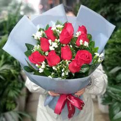11朵戴安娜粉玫瑰,礼盒装,最真诚的爱