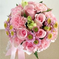 9朵粉玫瑰,11朵粉色康乃馨,天赐良缘