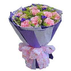11朵粉色康乃馨,祝您健康百年