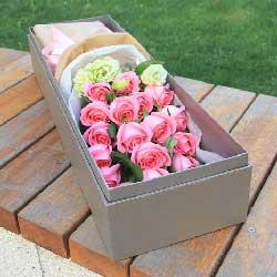 16朵戴安娜玫瑰,礼盒装,你是世上最美的女人