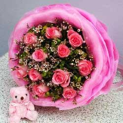 11朵粉玫瑰,我愿意为你做一切