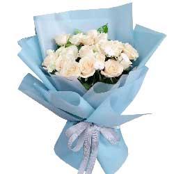 19朵白玫瑰,让我爱你一生