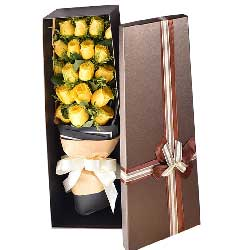 19朵黄玫瑰,礼盒装,是我伤了你的心
