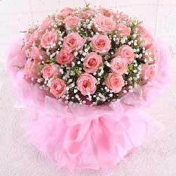 33朵戴安娜粉玫瑰,因你而幸福无边