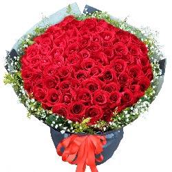 99朵红玫瑰,深深的吻你