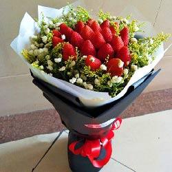21颗草莓花束,爱你不可阻挡