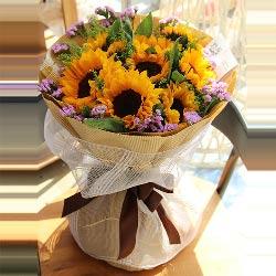 9朵向日葵,祝您快乐幸福