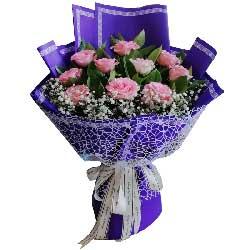10朵粉玫瑰,最幸福的女人