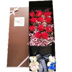 11朵红玫瑰,礼盒装,你是我的一切