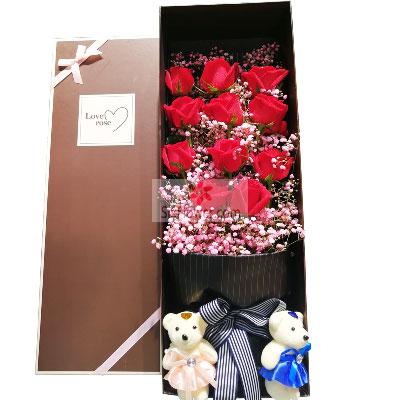11朵红玫瑰,礼盒装,你是我的一…