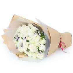 29朵白玫瑰,一颗温暖的心