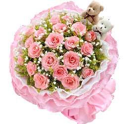 19朵戴安娜粉玫瑰,幸福甜蜜