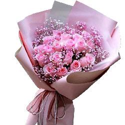 19朵戴安娜粉玫瑰,有你相伴此生无憾