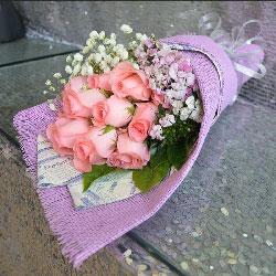 11朵戴安娜粉玫瑰,爱你到永远