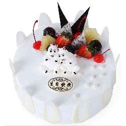 白色水果蛋糕,美好祝愿