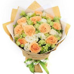 11朵香槟玫瑰,11朵桔梗,生活更幸福快乐