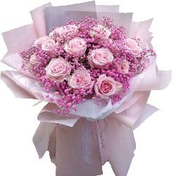 19朵戴安娜粉玫瑰,一路与你相伴同走