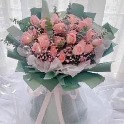33朵戴安娜f粉玫瑰,我想和你白头偕老