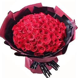 99朵红玫瑰,我爱你愿你天天笑