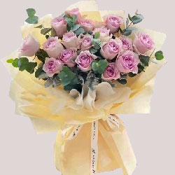 19朵紫玫瑰,生活因你而美丽