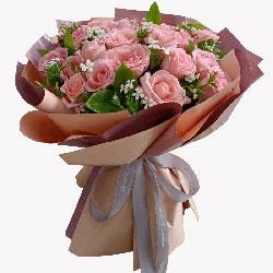 19朵戴安娜粉玫瑰与你尽情欢笑