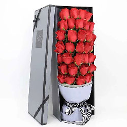 33朵红玫瑰礼盒,一生一世在一起