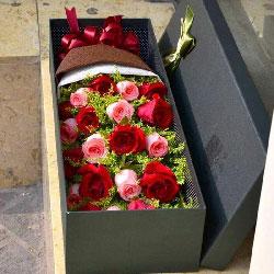 21朵玫瑰礼盒,愿我们今生永相伴