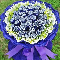 39朵蓝玫瑰,我爱你今生今世不改变