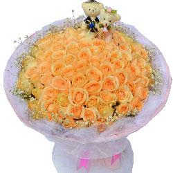 99朵香槟玫瑰,爱情永远幸福美好