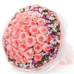 33朵戴安娜粉玫瑰,今生最幸福的事
