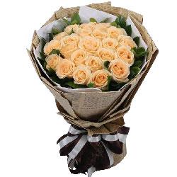 21朵香槟玫瑰,真心喜欢你